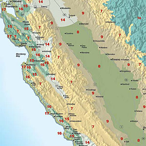 Sunset Central Valley Climate Map