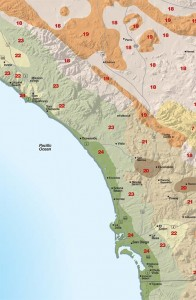 Sunset San Diego Coastal Climate Map