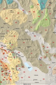 Sunset Southern California Western Desert Climate Map