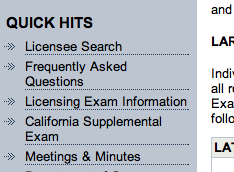 California Supplemental Exam link on the LATC website
