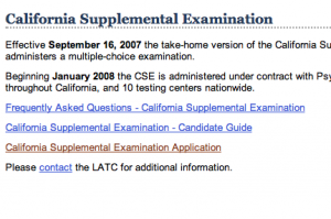 California Supplemental Exam for Landscape Architects application