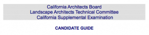 California Supplemental Exam Candidate Guide