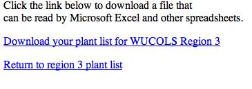 Waterwonk.us download plant list